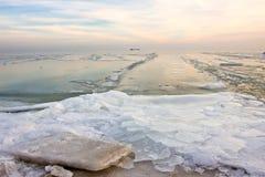 Winter sea shore Royalty Free Stock Image