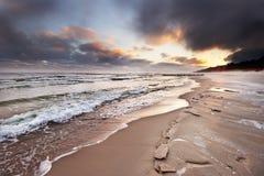 Winter sea shore Stock Images