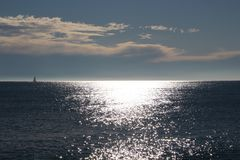 Winter sea. Sea during winter and the sun shines in the sea Stock Photos