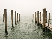 Winter sea. In Venice with fog Royalty Free Stock Images