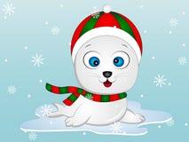 Winter seal Vector Illustration Royalty Free Stock Photos