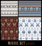 Nordic Traditional Knitted Ornamental Multicolor Striped Pattern Royalty Free Stock Photography