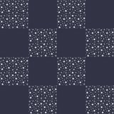 Winter seamless background with flat white snowflakes on a gray Royalty Free Stock Photo