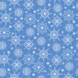 Winter seamless background with snowflakes Stock Photography