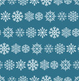 Winter seamless background with snowflakes Royalty Free Stock Photography