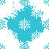 Winter seamless background with snowflakes for greeting card or invitation. Merry Christmas and Happy New Year design element. Vector illustration vector illustration