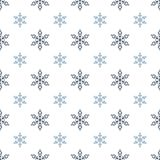 Winter seamless background with snowflakes for greeting card or invitation. Merry Christmas and Happy New Year design element. Vector backdrop vector illustration