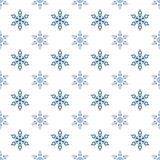 Winter seamless background with snowflakes for greeting card or invitation. Merry Christmas and Happy New Year design element. Vector backdrop stock illustration