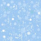 Winter seamless background with snowflakes and snow. Winter blue seamless background with snowflakes and snow Stock Photo