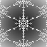Winter seamless background with white snowflakes on transparent background. Snow frost effect. Abstract snowflakes seamless pattern stock illustration