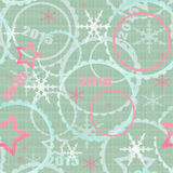 Winter 2015 seamless christmas pattern background. Winter 2015 seamless mint green christmas pattern background vector illustration