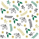 Winter seamless Christmas pattern Stock Image