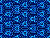 Winter seamless illusion assembled from hexagons with con stock illustration