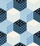 Winter seamless patchwork pattern. New Year background Stock Image