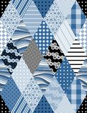 Winter seamless patchwork pattern. Royalty Free Stock Photos