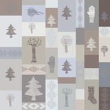 Winter seamless pattern Stock Photography