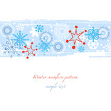Winter seamless pattern Stock Images