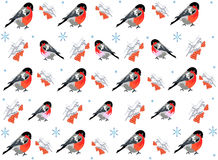 Winter seamless pattern. Royalty Free Stock Photography