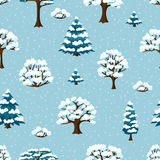 Winter seamless pattern with abstract stylized Stock Photography
