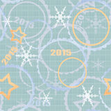 Winter 2015 seamless pattern background Stock Photo