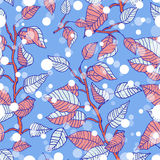 Winter seamless pattern with branches Royalty Free Stock Photography