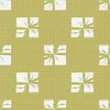 Seamless Christmas Gift Box Present Pattern. Winter Seamless Pattern with Christmas Gift Boxes. Wrapped Boxes with Stripes and Bows Flat Vector on Color Royalty Free Stock Photos