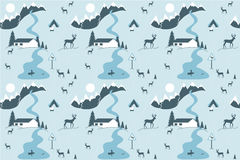 Winter seamless pattern Royalty Free Stock Photos
