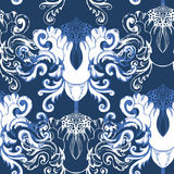 Winter seamless pattern with  decorative element Royalty Free Stock Photo