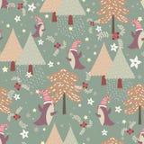 Winter seamless pattern Stock Photos