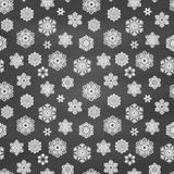 Winter seamless pattern with  hand drawn snowflakes Stock Image