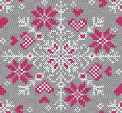 Winter seamless pattern. Knitted style. Stock Images