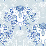 Winter seamless pattern with  ornament element Stock Photo