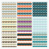 Winter seamless pattern set, Christmas, New Year Stock Images