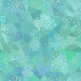 Winter seamless pattern of snowflakes Stock Photo