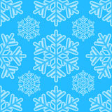 Winter seamless pattern with snowflakes Royalty Free Stock Photo