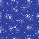 Winter seamless pattern with snowflakes. Design for postcard, poster or print Vector Illustration