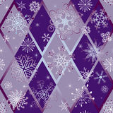 Winter seamless pattern with snowflakes Stock Photo