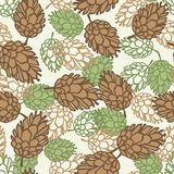 Winter seamless pattern with stylized pine cones Royalty Free Stock Photography