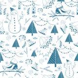 Winter seamless pattern Stock Image