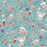 Winter seamless pattern. Vector illustration. Royalty Free Stock Photography