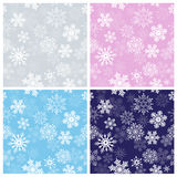 Winter Seamless Patterns Stock Images