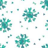 Winter seamless texture with geometric snowflakes Royalty Free Stock Photos