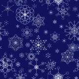 Winter seamless tile Royalty Free Stock Photo