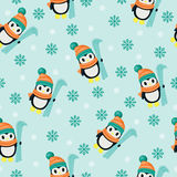Winter seamless wallpaper Stock Photo