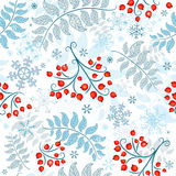 Winter seamless white pattern Royalty Free Stock Photography