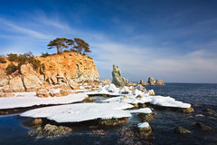 Winter seascape Royalty Free Stock Images