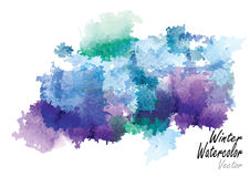 Winter season abstract background ,vector watercolor brush design. Summer season abstract background ,vector watercolor brush design ,for card,frame or Royalty Free Stock Photography