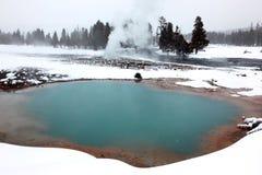Winter Season At Hot Lake Stock Image