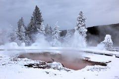 Winter Season At Hot Lake Of Yellowstone Royalty Free Stock Images