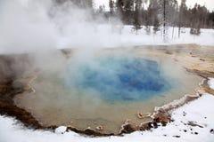 Winter Season At Hot Lake Of Yellowstone Royalty Free Stock Photo